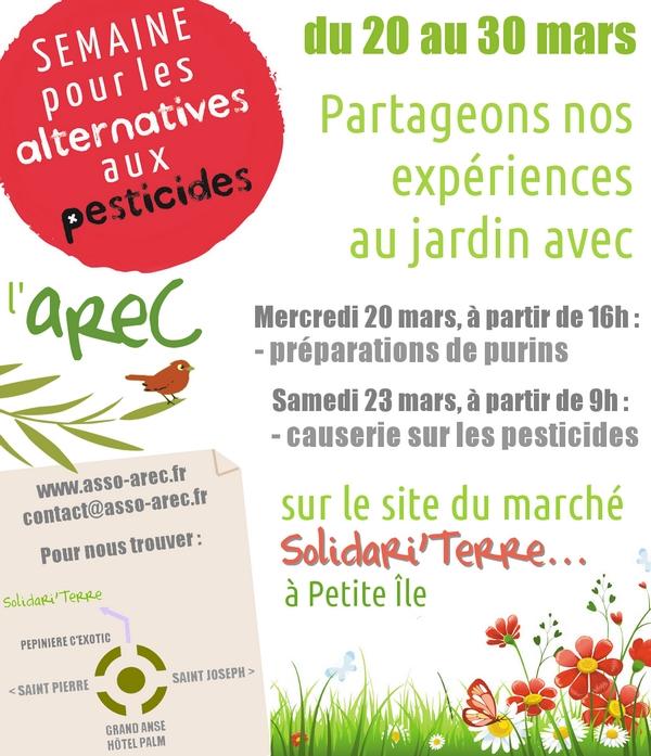 Programme de l'AREC pour la Semaine des Alternatives aux Pesticides