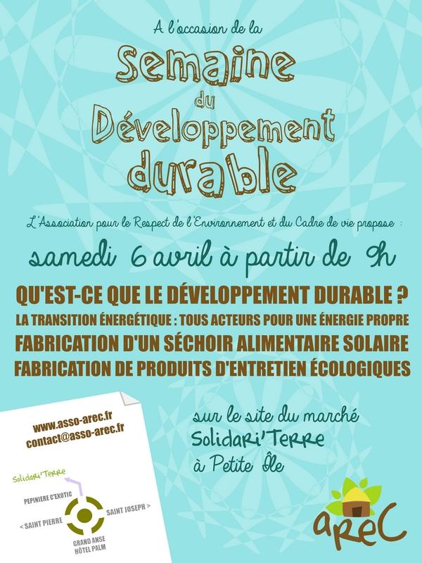 Programme de la Semaine du Développement Durable