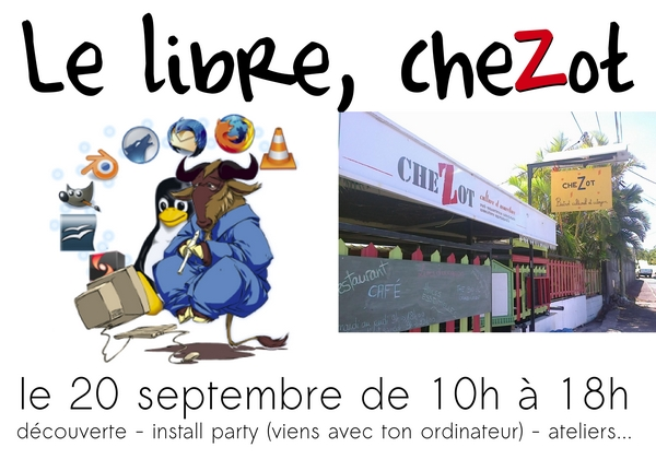 Le libre, cheZot, samedi 20 septembre
