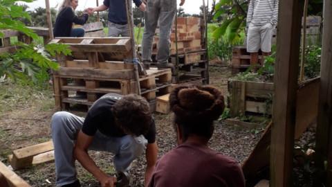 Le jardinet inauguré…. en photos !